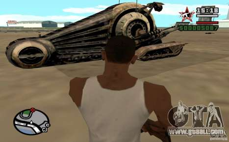 Alliance Tank Droid for GTA San Andreas back left view