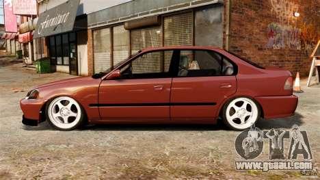 Honda Civic iES for GTA 4 left view