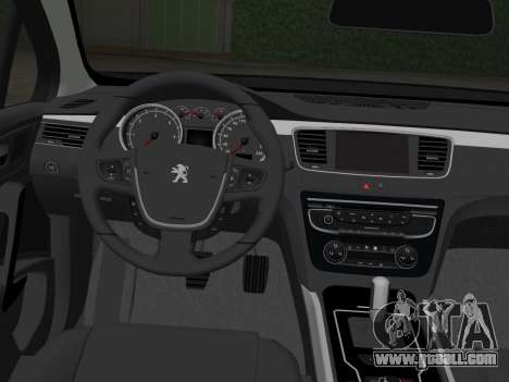 Peugeot 508 e-HDi 2011 for GTA Vice City back left view