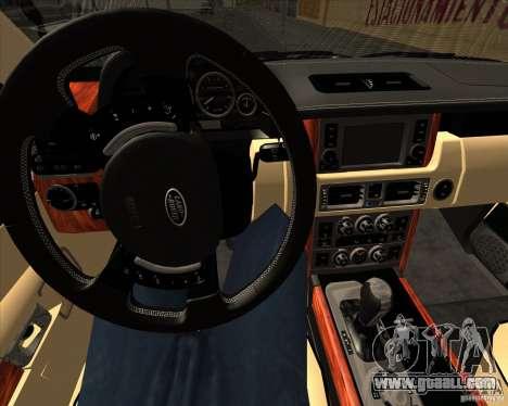 Range Rover Hamann Edition for GTA San Andreas bottom view