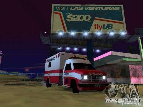 Ambulance 1987 San Andreas for GTA San Andreas back left view