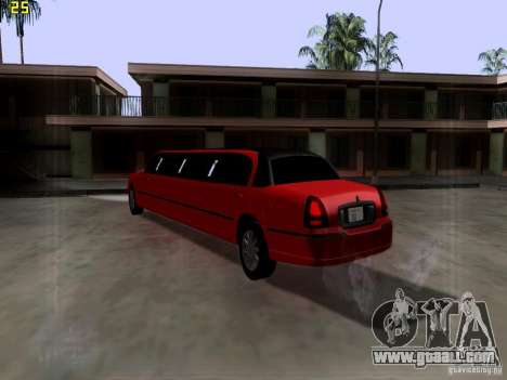 Lincoln Towncar 2010 for GTA San Andreas right view