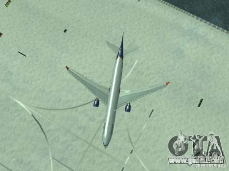 The Airbus A330-300 Aeroflot for GTA San Andreas upper view