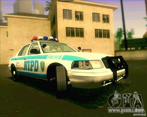 Ford Crown Victoria 2003 NYPD police V2.0 for GTA San Andreas
