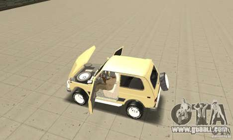 VAZ 21213 4 x 4 for GTA San Andreas back view