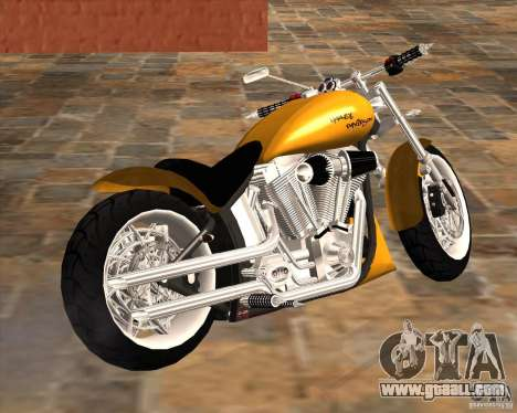 Race chopper by DMC for GTA San Andreas back left view