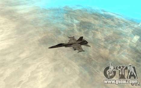 F-18 Hornet for GTA San Andreas back left view