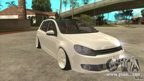 Volkswagen Golf VI 2010 Stance Nation for GTA San Andreas back view