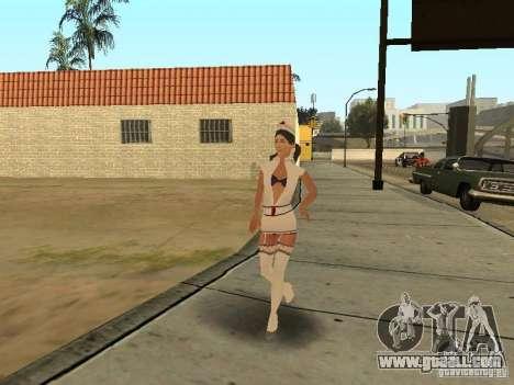 Girlz Medic in Grove for GTA San Andreas