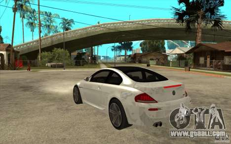 BMW M6 Coupe V 2010 for GTA San Andreas back left view