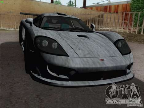 Saleen S7 Twin Turbo Competition Custom for GTA San Andreas bottom view