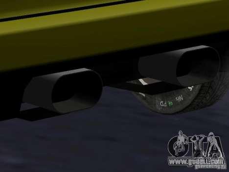 Infernus v 1.2 for GTA San Andreas inner view