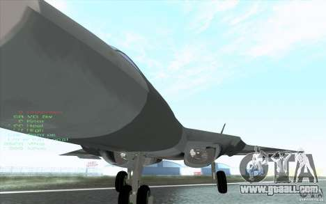 SU t-50 Pak FA for GTA San Andreas side view