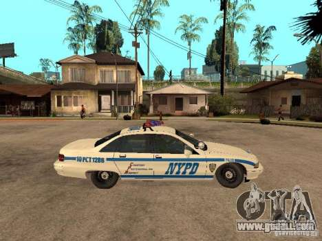 NYPD Chevrolet Caprice Marked Cruiser for GTA San Andreas back left view
