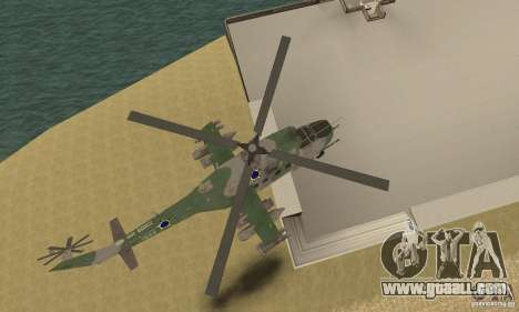 A helicopter from the Conflict Global Shtorm for GTA San Andreas inner view