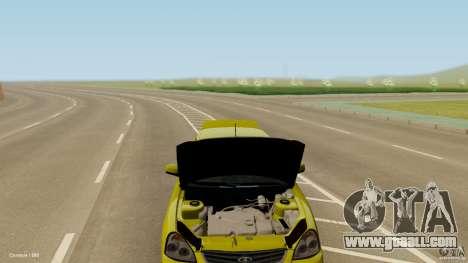 VAZ-2170 for GTA San Andreas inner view