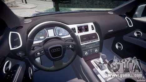 Audi Q7 V12 TDI Quattro Stock  v2.0 for GTA 4 back view