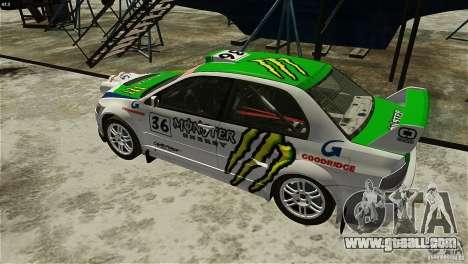 Mitsubishi Lancer Evolution IX RallyCross for GTA 4 back left view