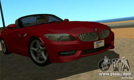 BMW Z4 2010 for GTA San Andreas left view