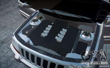 Jeep Grand Cheroke for GTA 4 interior