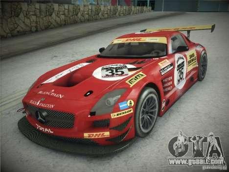 Mercedes-Benz SLS AMG GT3 Black Falcon 2011 for GTA San Andreas