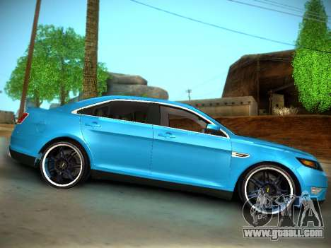 Ford Taurus SHO 2011 for GTA San Andreas back view