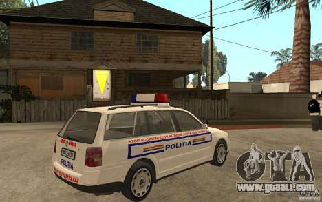 VW Passat B5+ Variant Politia Romana for GTA San Andreas right view