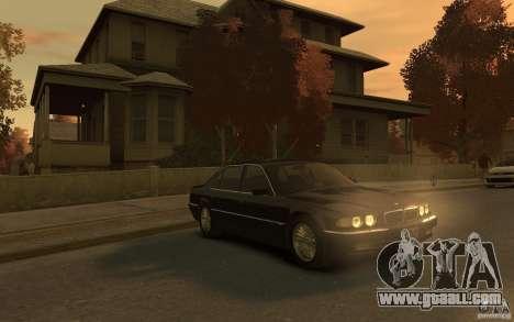 BMW 750iL (E38) v.3 for GTA 4 back view