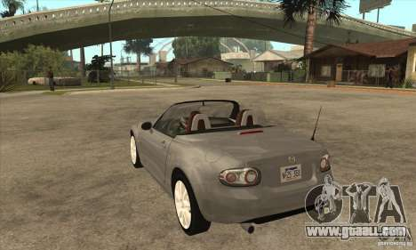 Mazda MX-5 2007 for GTA San Andreas back left view