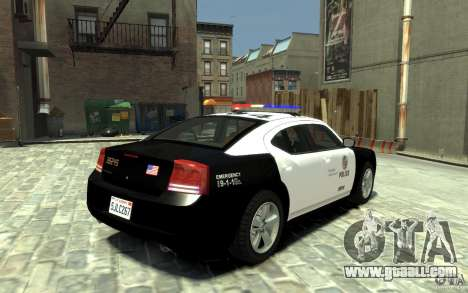 Dodge Charger LAPD V1.6 for GTA 4 right view