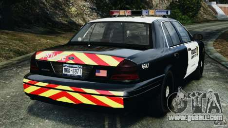 Ford Crown Victoria Police Interceptor 2003 LCPD for GTA 4 back left view