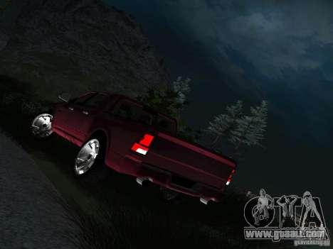 Dodge Ram 1500 Longhorn 2012 for GTA San Andreas back view