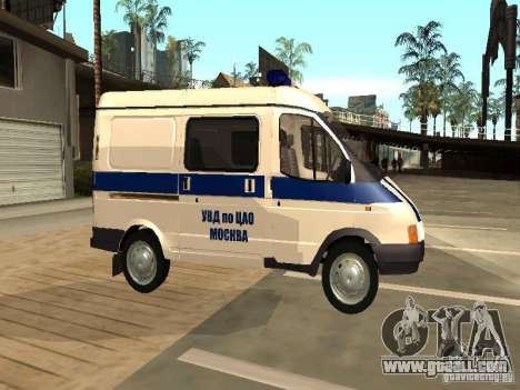 GAZ 2217 Sobol POLICE for GTA San Andreas left view
