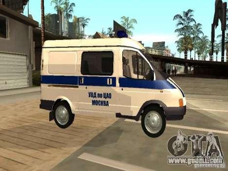 GAZ 2217 Sobol POLICE for GTA San Andreas left view
