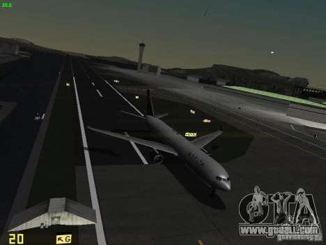 Boeing 767-400ER Delta Airlines for GTA San Andreas upper view