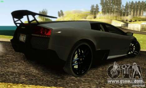Lamborghini Murcielago LP 670-4 SV for GTA San Andreas bottom view