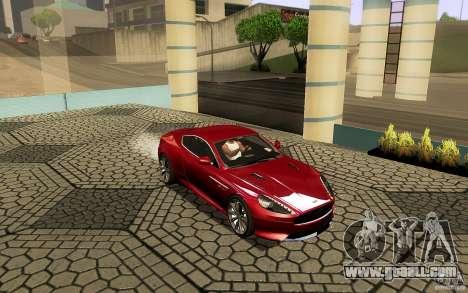 Aston Martin Virage V1.0 for GTA San Andreas upper view