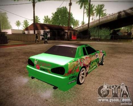 Elegy Toy Sport v2.0 Shikov Version for GTA San Andreas back left view