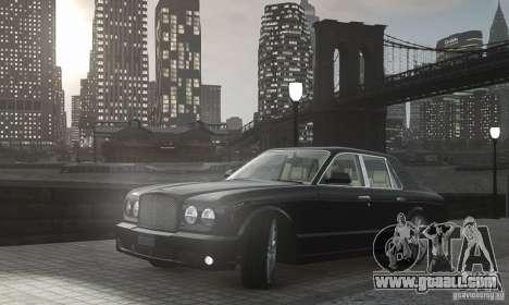Bentley Arnage T v 2.0 for GTA 4 inner view