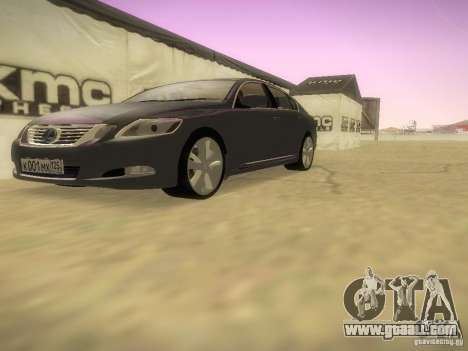 Lexus GS450H for GTA San Andreas inner view