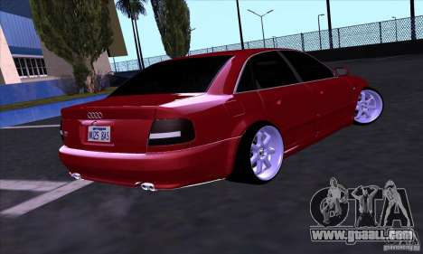 Audi S4 Light Tuning for GTA San Andreas back left view