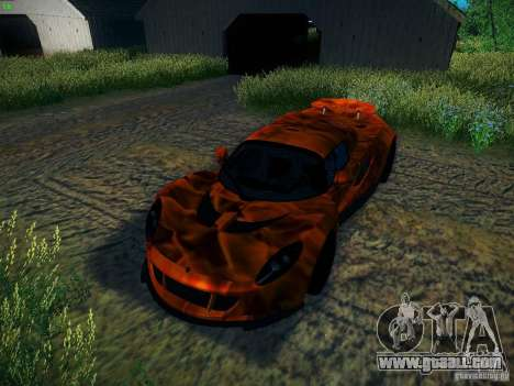 Hennessey Venom GT Spyder for GTA San Andreas upper view