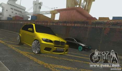 BMW X5M Gold Smotra v2.0 for GTA San Andreas back left view