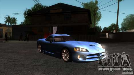 Dodge Viper SRT10 Stock for GTA San Andreas back view