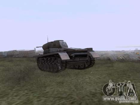 PzKpfw II Ausf.A for GTA San Andreas back left view