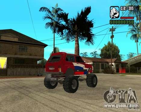 VAZ-21213 4x4 Monster for GTA San Andreas back view