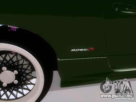 Nissan Silvia S15 drift for GTA San Andreas back left view