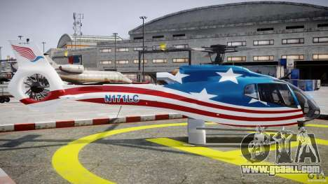 Eurocopter EC 130 B4 USA Theme for GTA 4 inner view