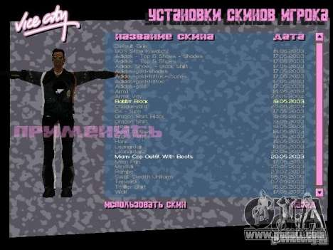 Pack of skins for Tommy for GTA Vice City second screenshot