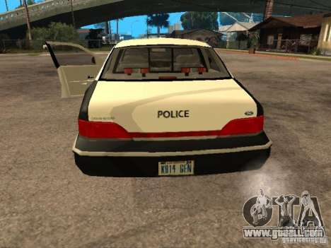 Ford Crown Victoria 1994 Police for GTA San Andreas back view